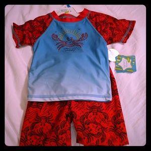 Nursery Rhyme 24M UPF 50 rashguard set